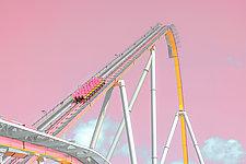 Roller Coaster by Dario Preger (Color Photograph)