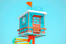 Beach House by Dario Preger (Color Photograph)
