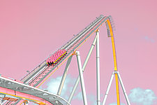 Roller Coaster by Dario Preger (Color Photograph)