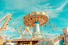 Swing Carousel by Dario Preger (Color Photograph)