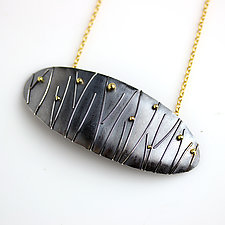 Midnight Grasses Necklace by Wendy Stauffer (Gold & Silver Necklace)