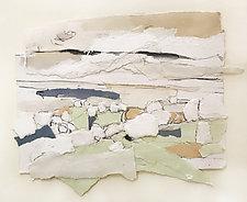 Prairie Study 2 by Meghan Wilbar (Mixed-Media Wall Hanging)