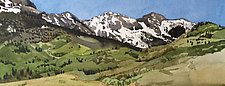 Mountains from Last Dollar Road by Meredith Nemirov (Watercolor Painting)
