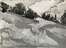 Clouds in the Afternoon by Meredith Nemirov (Ink Drawing)