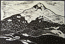 Lone Cone by Meredith Nemirov (Prints Woodcuts)