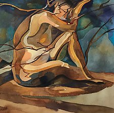 Tree Woman by Meredith Nemirov (Watercolor Painting)