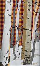 Patterns in Nature with Plaid by Meredith Nemirov (Watercolor Painting)