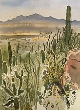 Desert Landscape by Meredith Nemirov (Watercolor Painting)