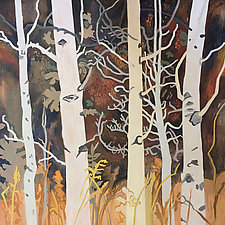 Autumn Afternoon in the Aspens by Meredith Nemirov (Oil Painting)
