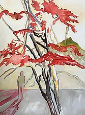 Figure/Tree by Meredith Nemirov (Oil Painting)