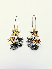 Bouquet Inverse Hook Earrings by Priya Himatsingka (Gold & Silver Earrings)