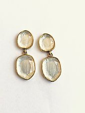 Miro Two-Drop Earrings by Priya Himatsingka (Gold & Stone Earrings)