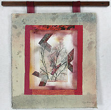 Shades of Red by Peggy Brown (Fiber Wall Hanging)