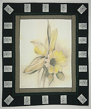 Big Daffodil by Peggy Brown (Fiber Wall Hanging)