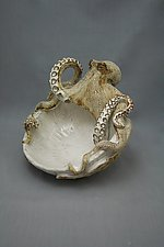 Large Octopus Bowl by Shayne Greco (Ceramic Bowl)