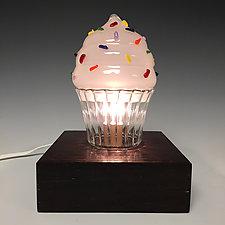 Cupcake Nightlight by Sage Churchill-Foster (Art Glass Table Lamp)
