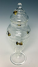 Beehive Apothecary Jar by Sage Churchill-Foster (Art Glass Jar)