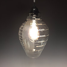 Mad Scientist Pendant Light by Sage Churchill-Foster (Art Glass Pendant Lamp)