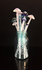 Dozen Longstems in Blue by Sage Churchill-Foster (Art Glass Sculpture)