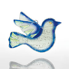 Songbird by Denise Childs (Art Glass Ornament)