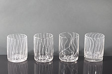 Laceware Whisky Glass by Tyler Kimball (Art Glass Drinkware)