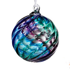 Tricolor Twist by Tyler Kimball (Art Glass Ornament)