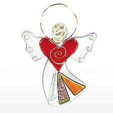 Sweet Seraphim by Suz Mole (Art Glass Ornament)