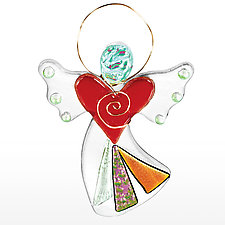 Sweet Seraphim by Suz Mole (Art Glass Ornament)
