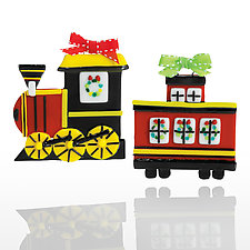 All Aboard! by Kimberle Straub (Art Glass Ornament)