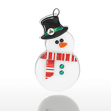 Frosty Fellow by Amy Simpson (Art Glass Ornament)