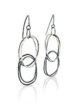 Double Loop ByHand Earrings by Lisa LeMair (Silver Earrings)