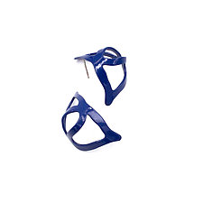 Open Weave Huggie Hoop by Laura  Wood (Brass Earrings)