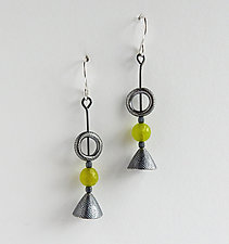 #890 Earrings by Boo Poulin (Silver & Stone Earrings)