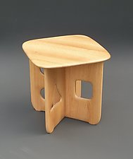 1234 Stool by Tracy Fiegl (Wood Stool)