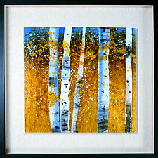 Celebration of Fall by Leslie W. Friedman (Art Glass Wall Sculpture)