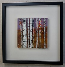 Lavender Days of Autumn by Leslie W. Friedman (Art Glass Wall Sculpture)