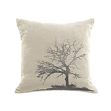 Gilded Luxe Tree Pillow by Helene  Ige (Velvet Pillow)