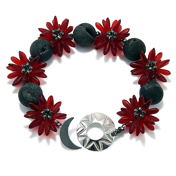Red Star Flower Bracelet