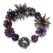 Sapphire Shimmer by Kathryn Bowman (Glass Bead Bracelet)