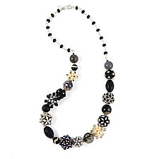 High Contrast by Kathryn Bowman (Stone & Glass Bead Necklace)