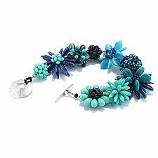 Blue Border Bracelet by Kathryn Bowman (Beaded Bracelet)