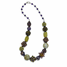 Mystic Amethyst Necklace by Kathryn Bowman (Beaded Necklace)
