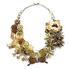 Butterfly Garden Necklace by Kathryn Bowman (Beaded Necklace)