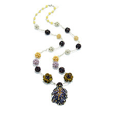 Color Magic Necklace by Kathryn Bowman (Glass Bead Necklace)