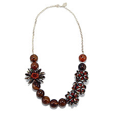 Rich Dynamic by Kathryn Bowman (Stone & Glass Bead Necklace)