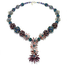 Plum Fun Necklace by Kathryn Bowman (Beaded Necklace)