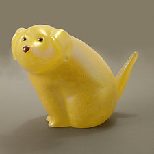Yellow Labrador by Orient & Flume Art Glass (Art Glass Sculpture)