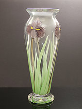Amethyst Iris by Orient & Flume Art Glass (Art Glass Vase)