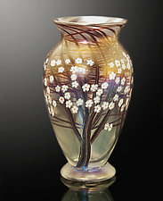 Clear Frost Hawthorn by Orient & Flume Art Glass (Art Glass Vase)
