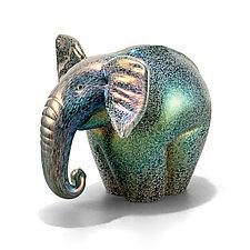 Iridescent Elephants by Orient & Flume Art Glass (Art Glass Sculpture)